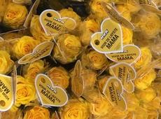 gele rozen voor moederdag