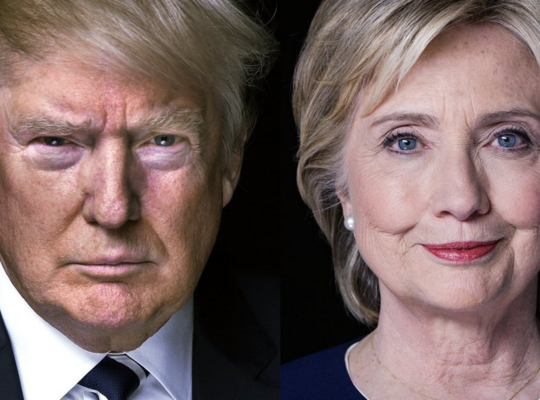 Donald Trump en Hillary Clinton