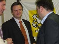 burgemeester Dirk De Kort op bezoek bij N-VA Brasschaat